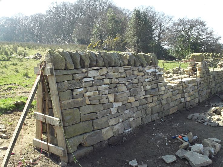 free standing dry stone wall - Google Search