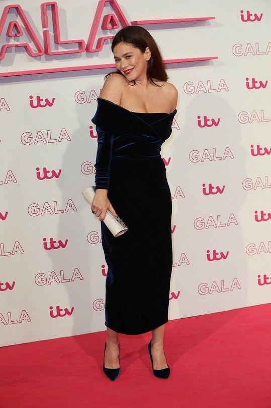 Anna Friel na večírku stanice ITV