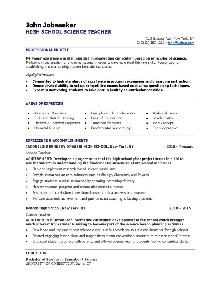 Teaching Resume Examples Resume Downloads (With images