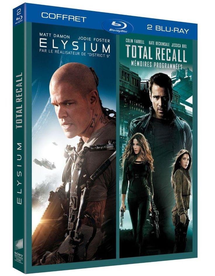 Elysium + Total Recall - Mémoires programmées  BLU-RAY - NEUF