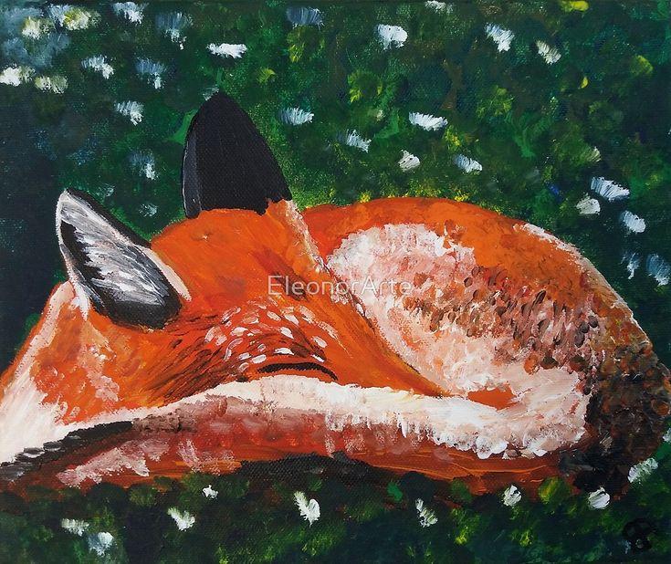 Sleeping fox by EleonorArte