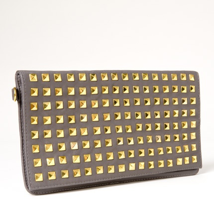 Grey Studded ClutchStuds Rings, Grey Studs, Clutches Repin By Pinterest, Grey Clutches Bags, Studs Clutches Repin