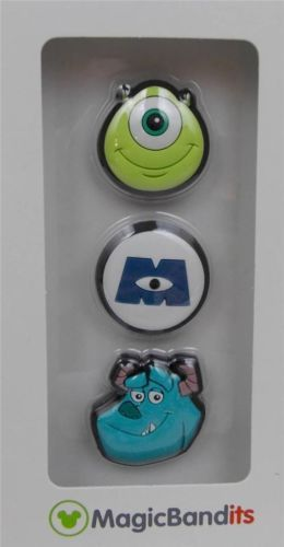 Disney-Parks-Magic-Band-Bandits-Monsters-Inc-Wrist-Charms-Set-of-3-New