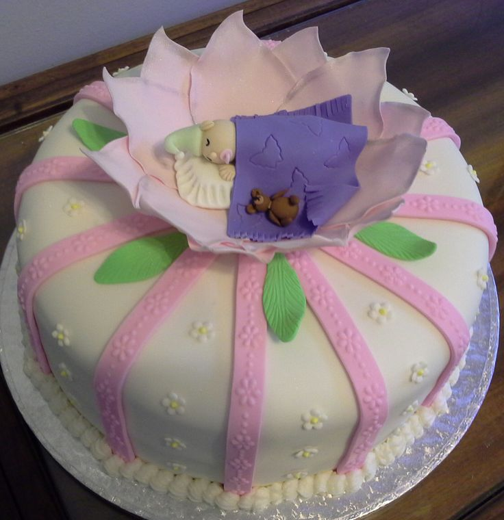 Christening cake for a little lady