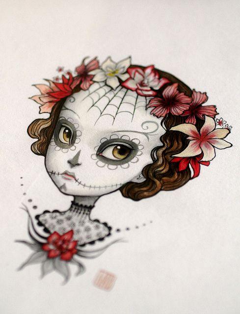 Dia de Los Muertos art illustration by Mab Graves via Flickr.