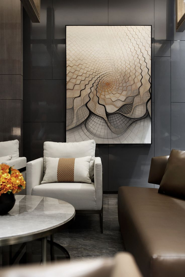 Modern wall art interior