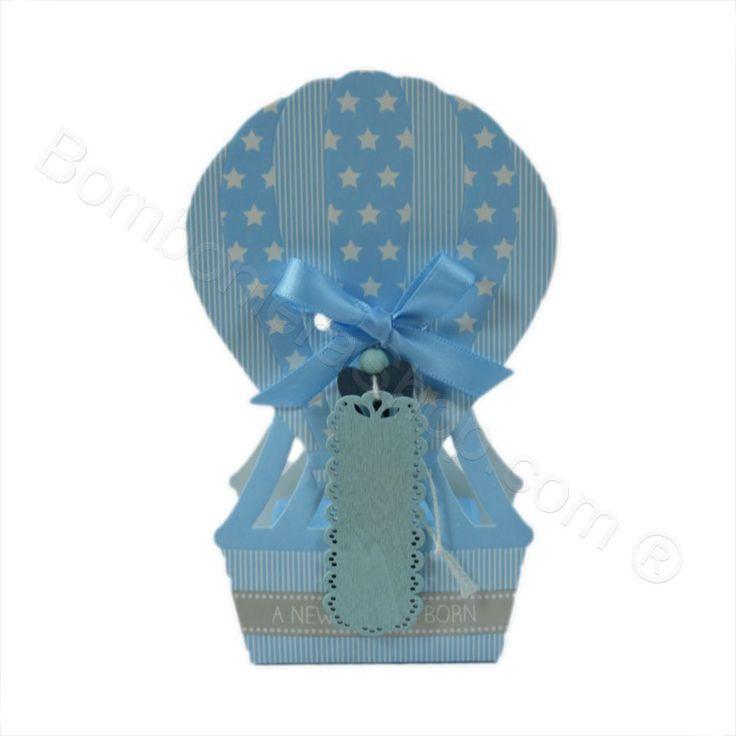 Mongolfiera Celeste con stelline e confetti inclusi