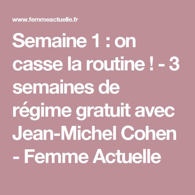Semaine 1 : on casse la routine ! - 3 semaines de régime gratuit avec Jean-Michel Cohen - Femme Actuelle