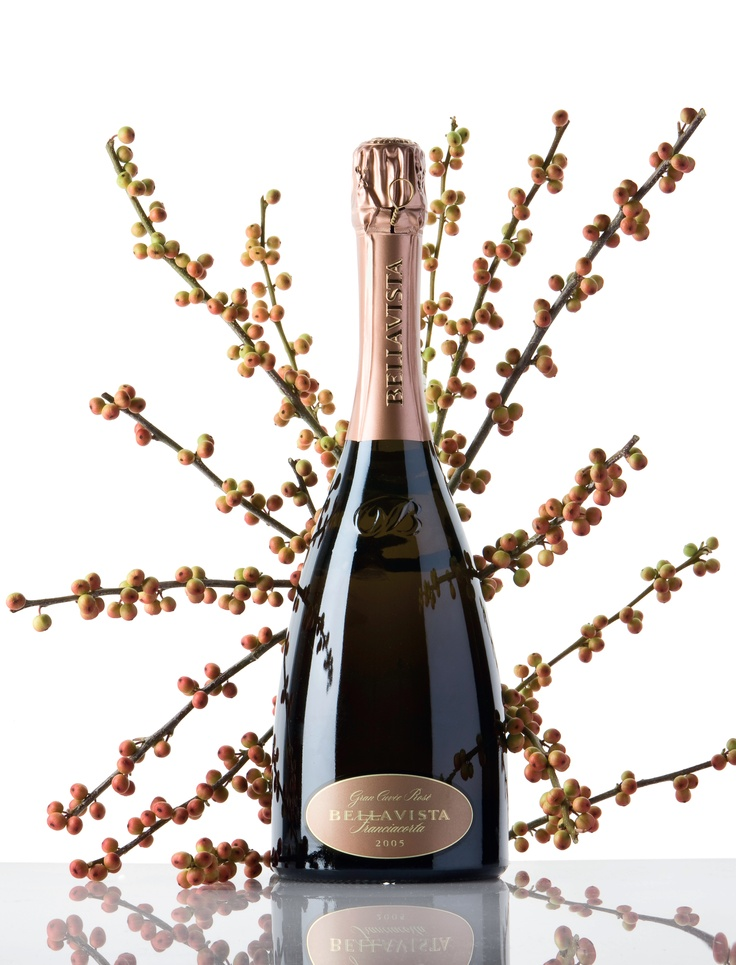 Bellavista Franciacorta Gran Cuvée Rosè, produced at the Bellavista Winery #franciacorta #Tuscany #Italy #wine