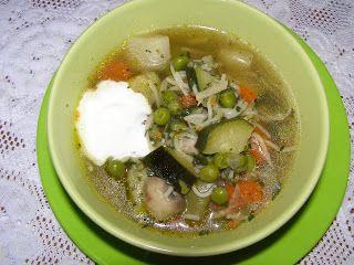 W Mojej Kuchni Lubię.. : cukiniowa zupa z warzywami, pieczarkami na rosole ...