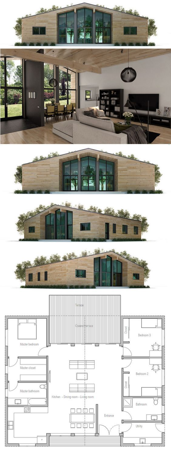 House Plan - really like this very efficient use of space - no endless narrow hallways!: