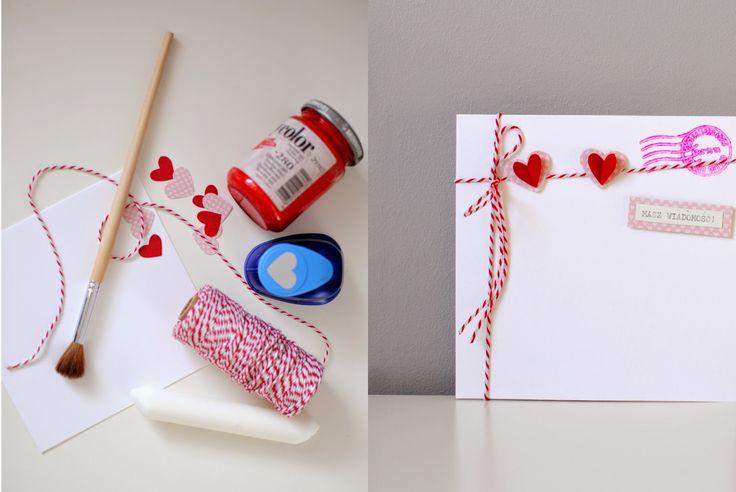 Walentynkowa kartka z ukrytą wiadomością
