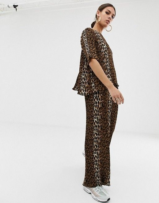 d5b555d74c9e Na-kd plisse top with leopard print in brown co-ord in 2019 | SHOP ...