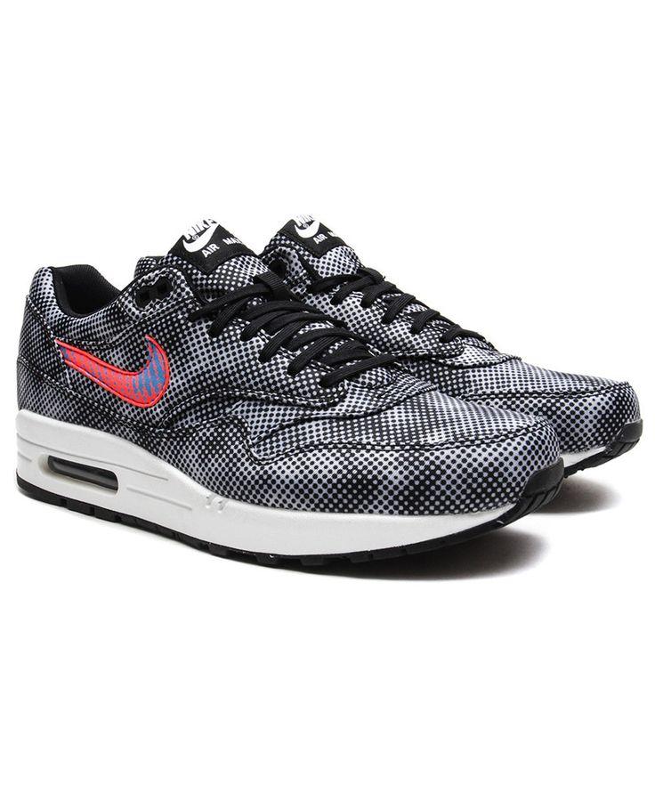 Nike Air Max 1 FB QS (Black/Bright Crimson-White-Blue Lagoon)