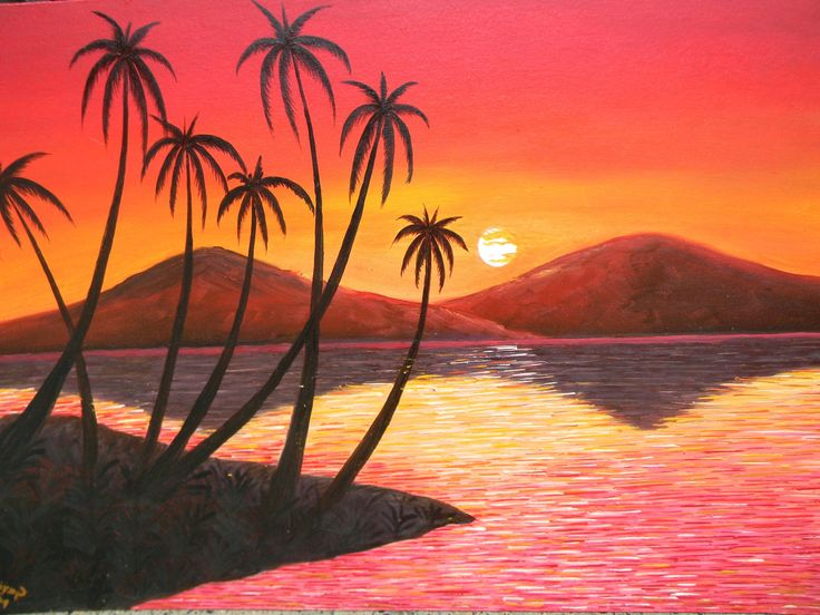 Easy Canvas Paintings Of Nature Painting Ideas In 2019