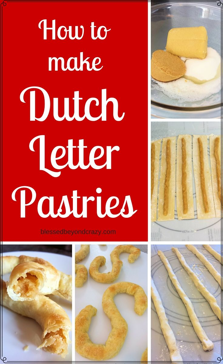 """How to make Dutch Letter Pastries - Banket (bahn-KET), banketstaaf or letterbanket is a sweet pastry that originated in the Netherlands. It is popular during Christmas season, to celebrate Sinterklaas especially on Saint Nicholas' eve, December 5. In the US, Banket may be referred to as a Dutch Letter or Almond Patty and is typically formed in the shape of a letter, such as the letter """"S"""". #blessedbeyondcrazy #pastries #Dutch"""