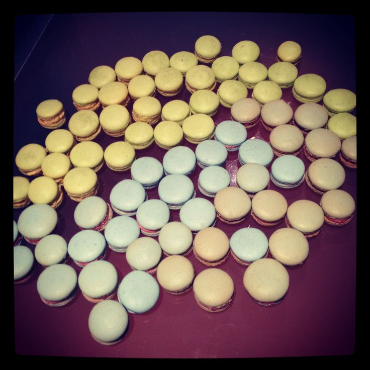 Table full of macarons