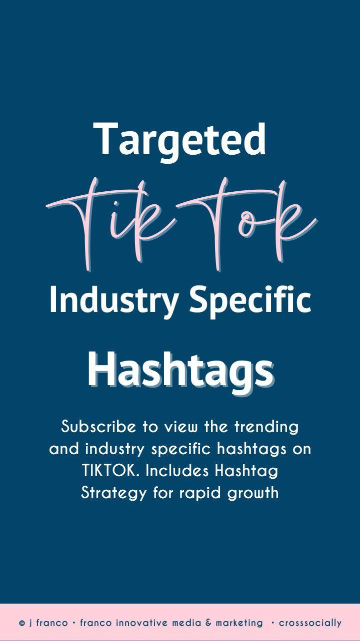 Targeted Tiktok Hashtags For Growth Marketing Guru Target Audience School Organization