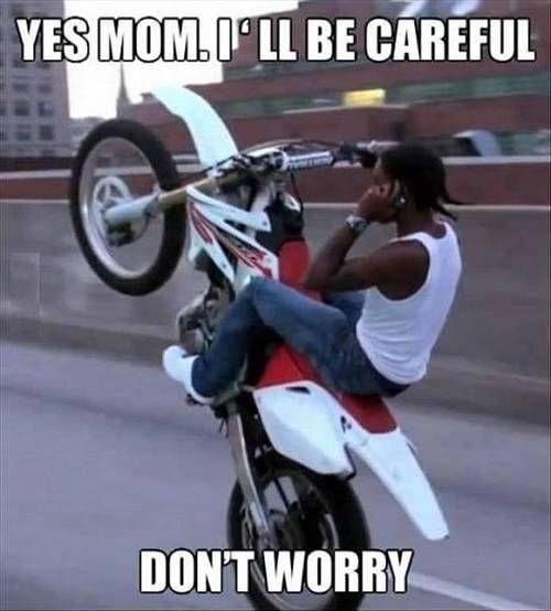 Guter Junge ~ 😏 😆 #motocross #mx #motocrosslife #dirtbike #moto    – Motocross Humor