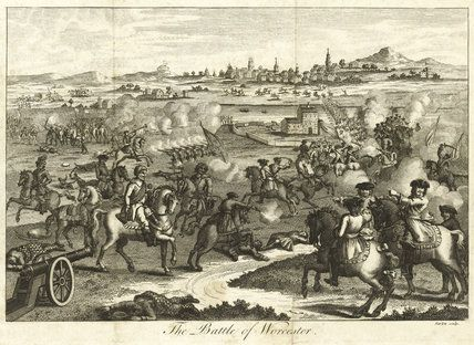 The Battle of Worcester. Engraving by Barlow, 1750.