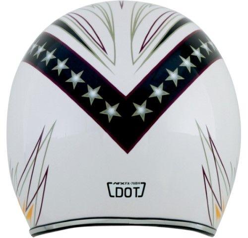 Afx Fx-76 Helmet Fx76 Lines Md 0104-1167, White