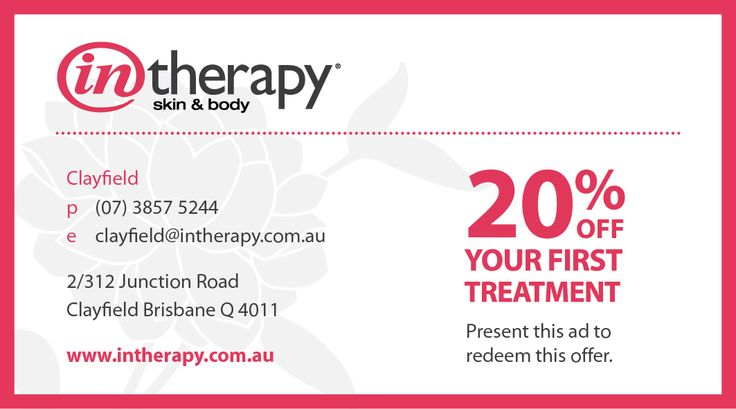 20% off your first treatment at our beautiful new salon in Clayfield, Brisbane.