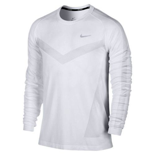 NIKE DRI-FIT KNIT LONG-SLEEVE MEN'S RUNNING SHIRT WAS $80
