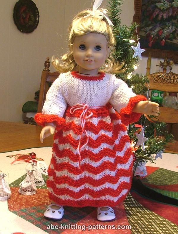 Abc Knitting Patterns American Girl Doll Candy Cane