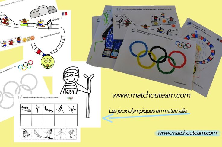 Fiches jeux olympiques ready to print !