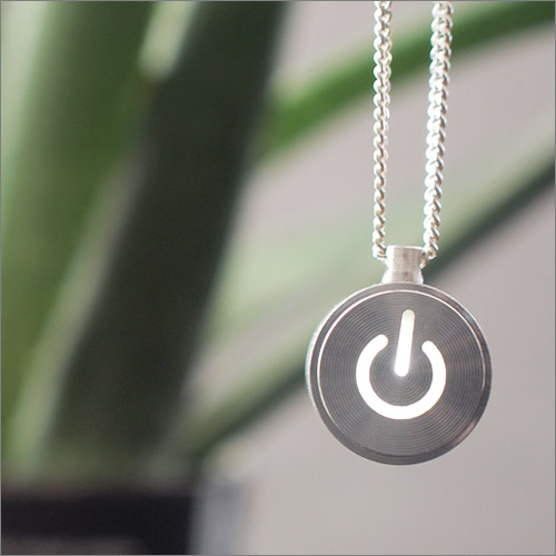 iNecklace - LED Light Necklace of Mac power button design