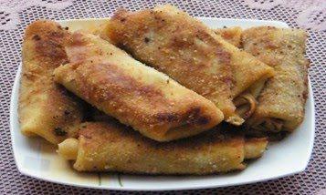 Krokiety z mięsem mielonym, kapustą kiszoną i pieczarkami