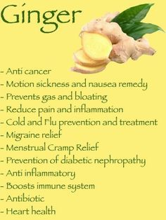 22 Amazing Benefits Of Ginger. I use ginger capsules almost everyday for my nausea. It really seems to help.