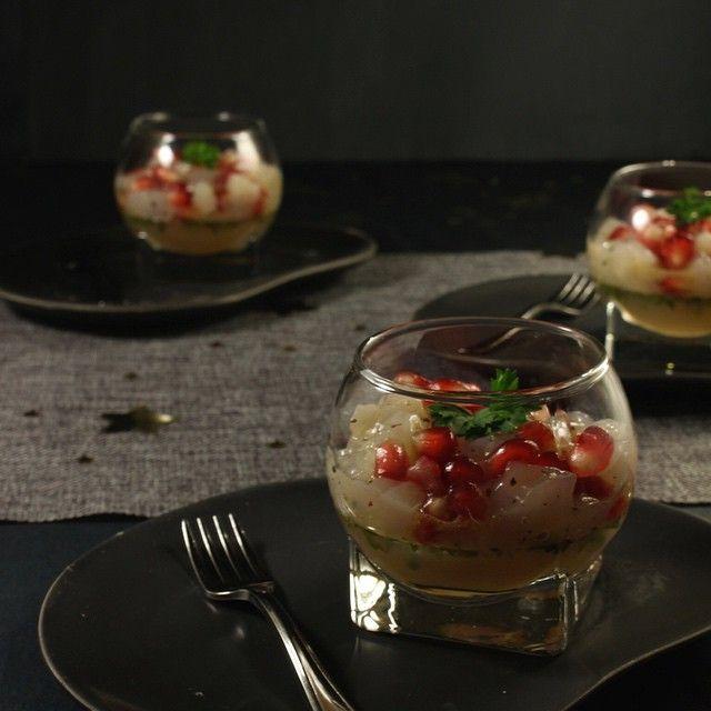 Feesthapje met #coquille en #granaatappel, nu op #lieziepeasy, met dank aan @hap_en_tap! #food #festive #foodblog #foodpics #foodstagram #foodphotography #instafood #nofilter #yummie