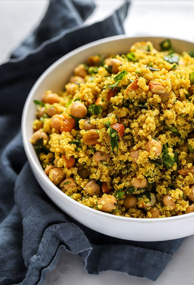 Simple Curry Spiced Quinoa Curry Spices Vegetarian Recipes Healthy Healthy Recipes