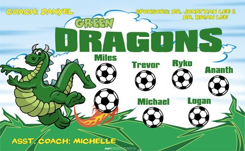 Green Dragons Banners Game Banners