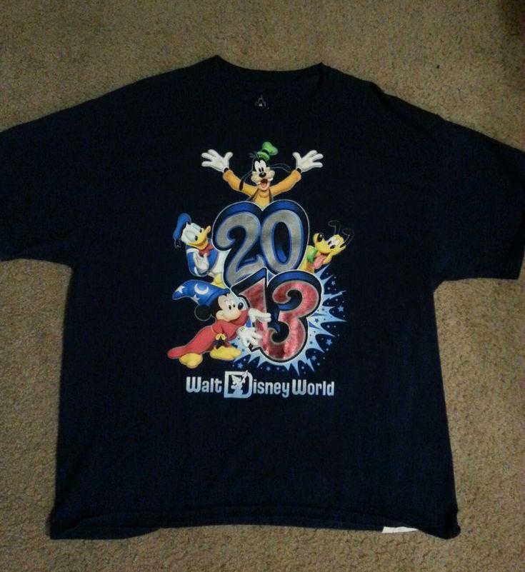 Walt Disney World 2013 Mickey Donald Goofy MENS XL Shirt-FAST SHIPPING  #Disney #GraphicTee