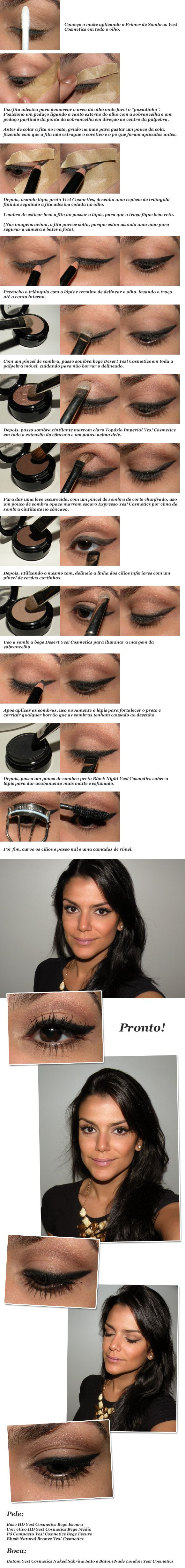 I can't understand the writing but the photos are pretty clear on how to achieve the results. A pretty ingenious way to get your liner to match on both eyes!