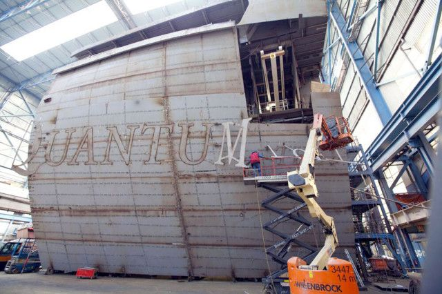 Lettering Applied, Quantum of the Seas – Quantum of the Seas Construction Update – Photo & Video Tour | Popular Cruising (Image Copyright © Royal Caribbean International)