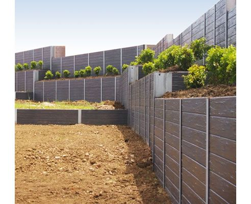 Best 20 Concrete sleeper retaining walls ideas on Pinterest