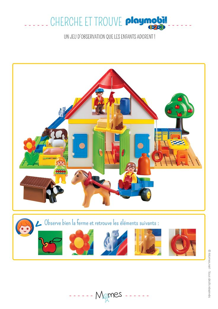 Cherche et trouve : La ferme Playmobil 123