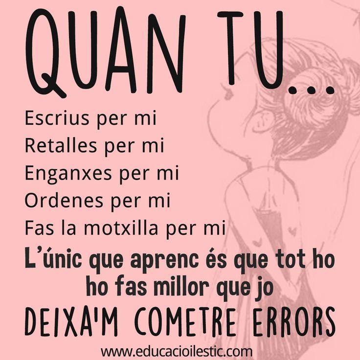 """Dels errors també n'aprenem - """"De los errores también aprendemos"""""""