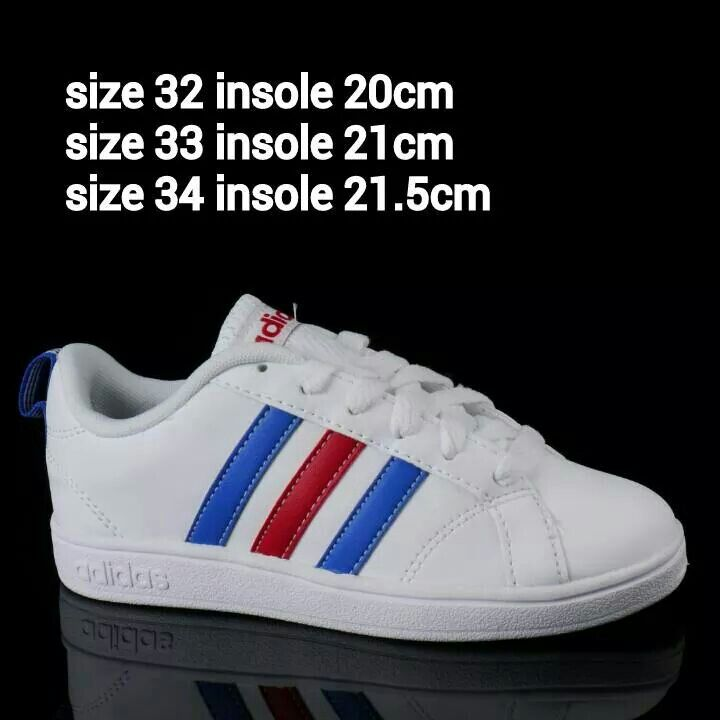 READY STOCK KIDS SNEAKERS KODE : White Adidas Red Blue Stripes Size 32,33,34 PRICE : Rp.225.000,- AVAILABLE SIZE (insole) : - Size 32 (20cm) - Size 33 (21cm) - Size 34 (21,5cm)  ORIGINAL ADIDAS EXPORT QUALITY  FOR ORDER : SMS/Whatsapp 087777111986 PIN BB 766A6420 LINE : mayorishop  #readystock #pusatsepatubootsanak #adidasoriginal #whiteshoes #sportshoes #runningshoes #kidsshoes #kidssneakers #sepatuanak #sepatuolahraga #sepatusport #mayorishop #bogor