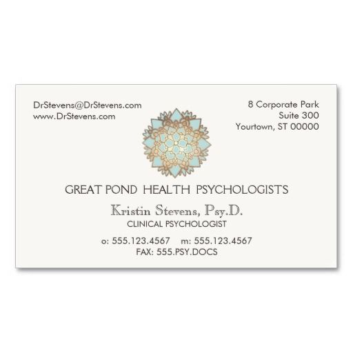 185 best Mental Health Counselor Business Cards images on - sample appointment card template