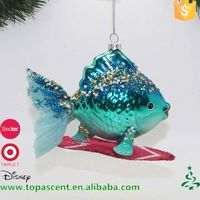 2016 China nieuwste stijl modieuze Kerst glas vis opknoping ornamenten