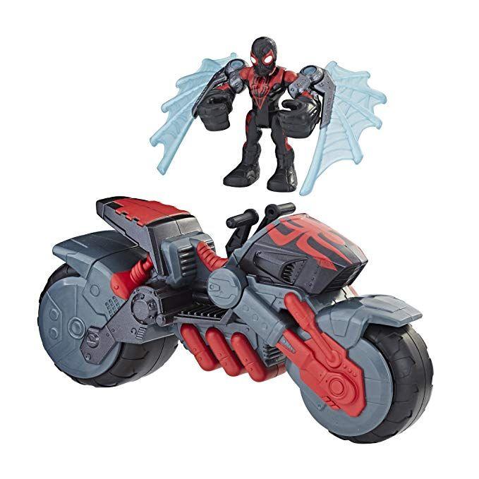 Marvel Super Hero Adventures 5 Inch Figure Motorbike 3 Pack Spider Man Iron Man