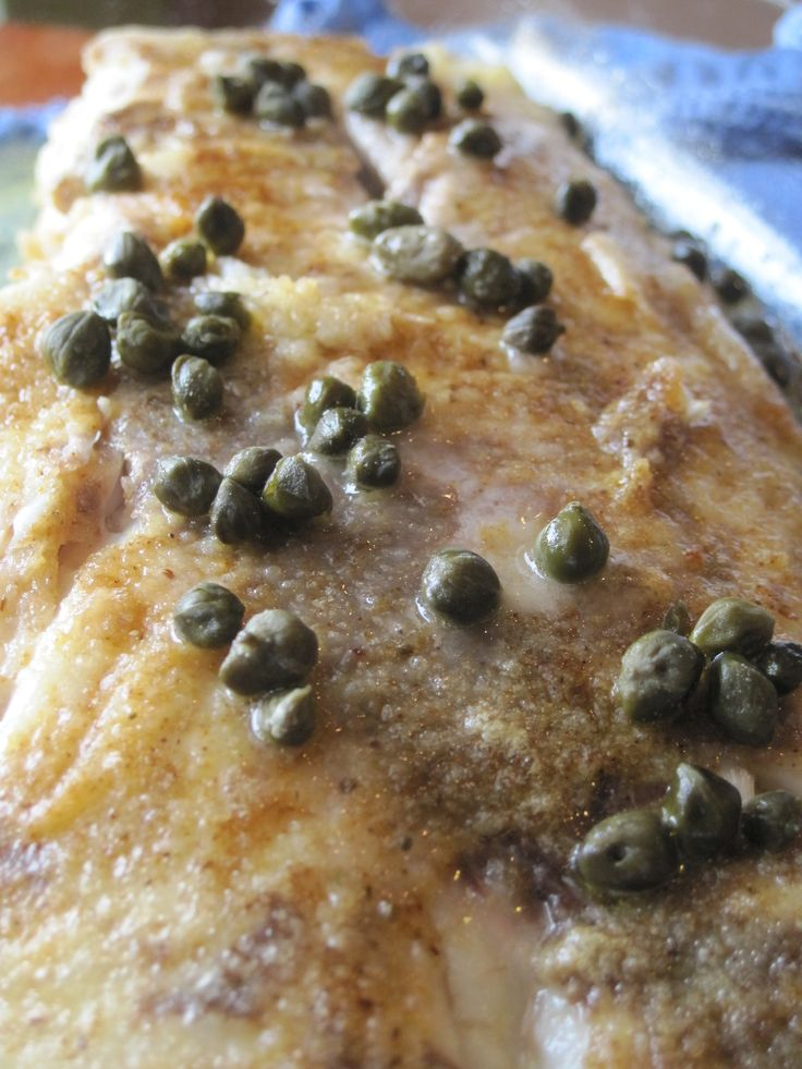 Pan-Browned Red Snapper with Lemon and Capers