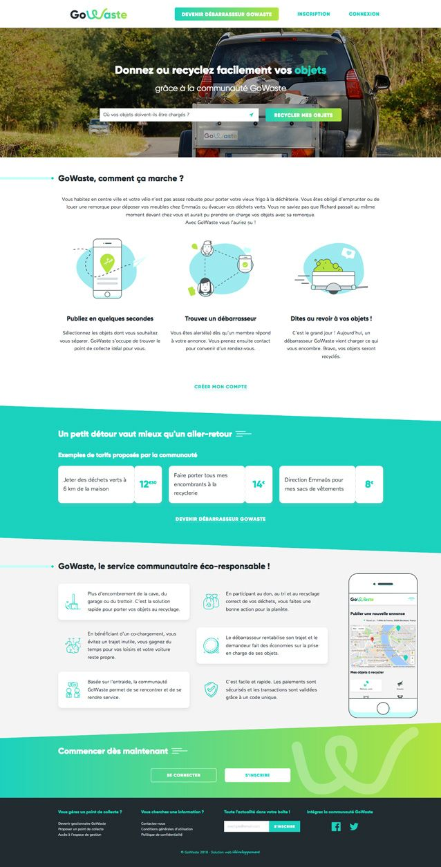 Webdesign Website Startup Ecologie Recycling Bordeaux Agence