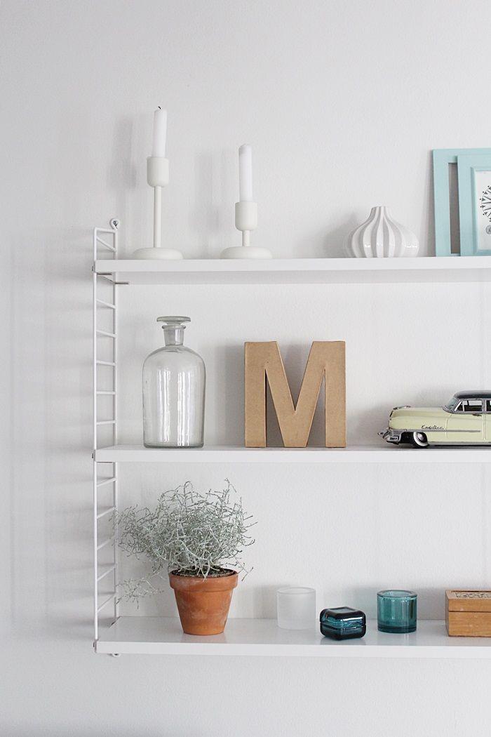 String shelf / Scandinavian interior / Livingroom interior / Kotisaari blog
