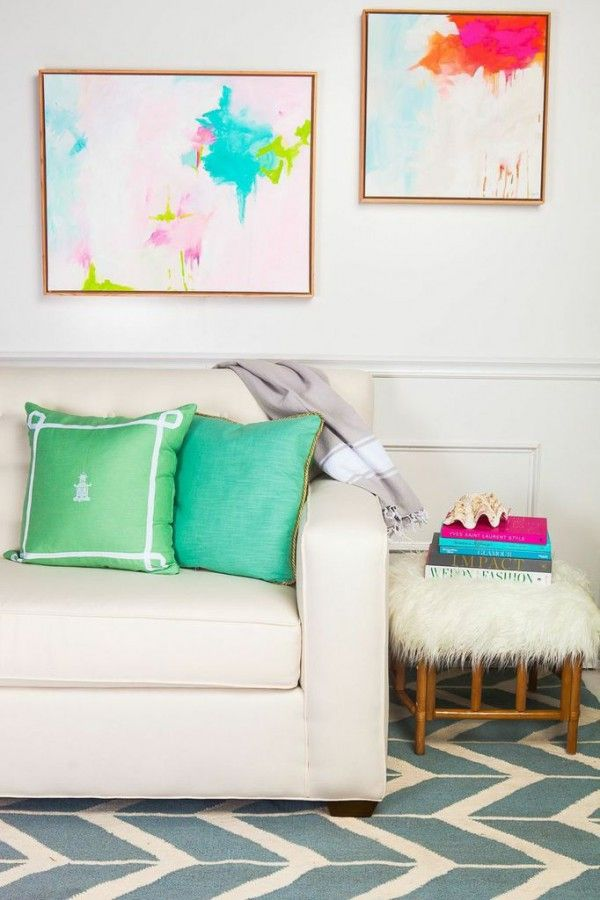 mint green | pretty, young, feminine, maybe first apartment