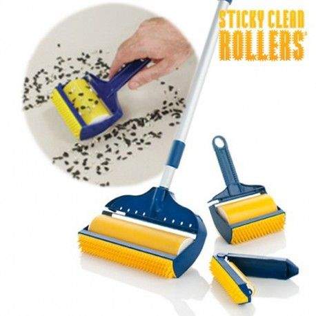 Rouleau Anti Peluche Sticky Clean Rollers (3 pièces)